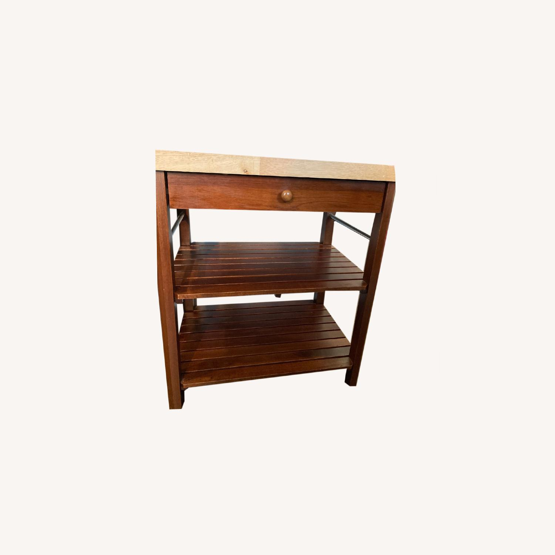 Craftsman Solid Wood Kitchen Cart - image-0