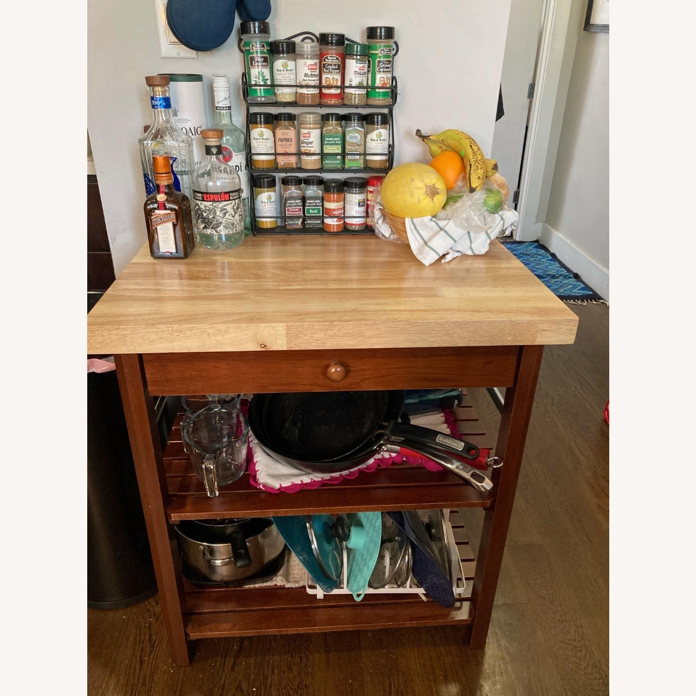 Craftsman Solid Wood Kitchen Cart - image-1