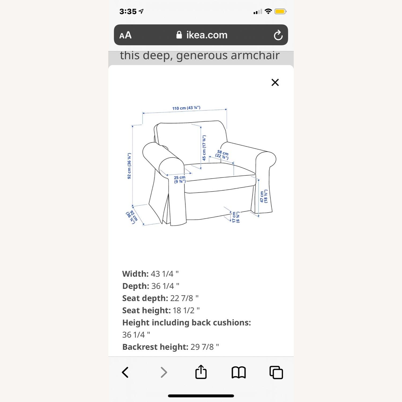 IKEA Uppland Chair and Slipcover - image-4