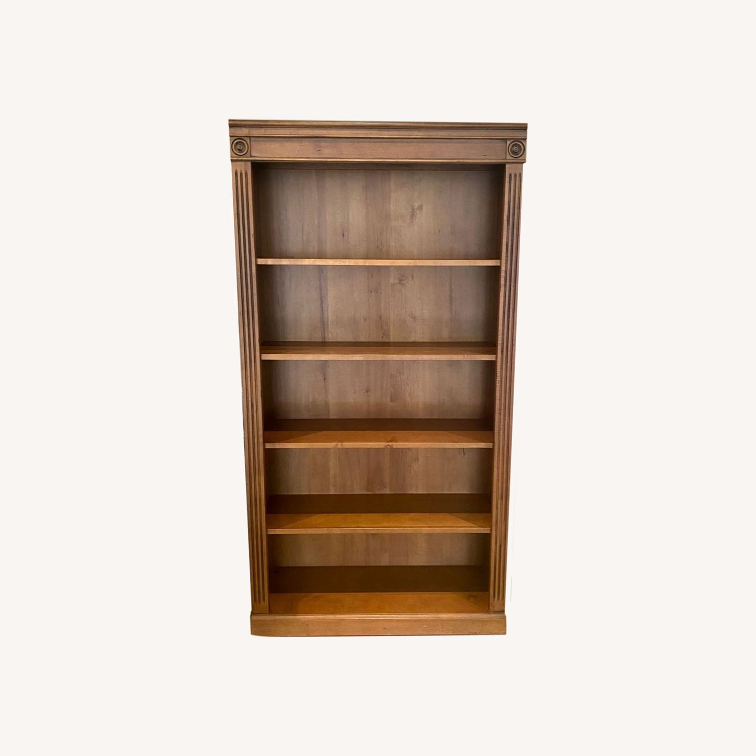 Ethan Allen Solid Wood Bookcase - image-0