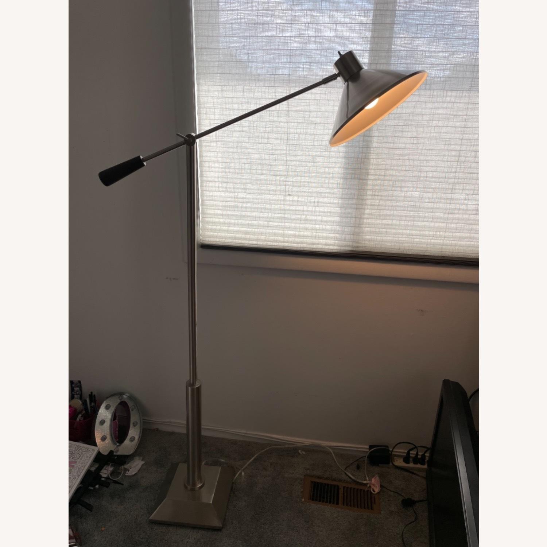 Brushed Nickel Adjustable Arm Floor Lamp - image-1
