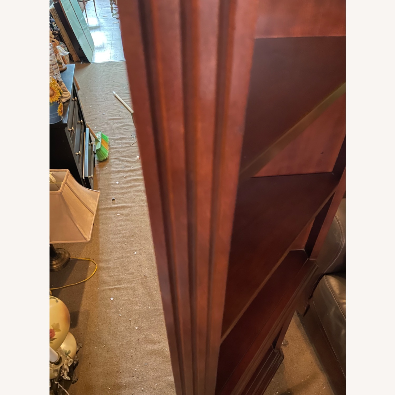 Vintage 1980s Thomasville Corner Cabinet w/ light - image-3
