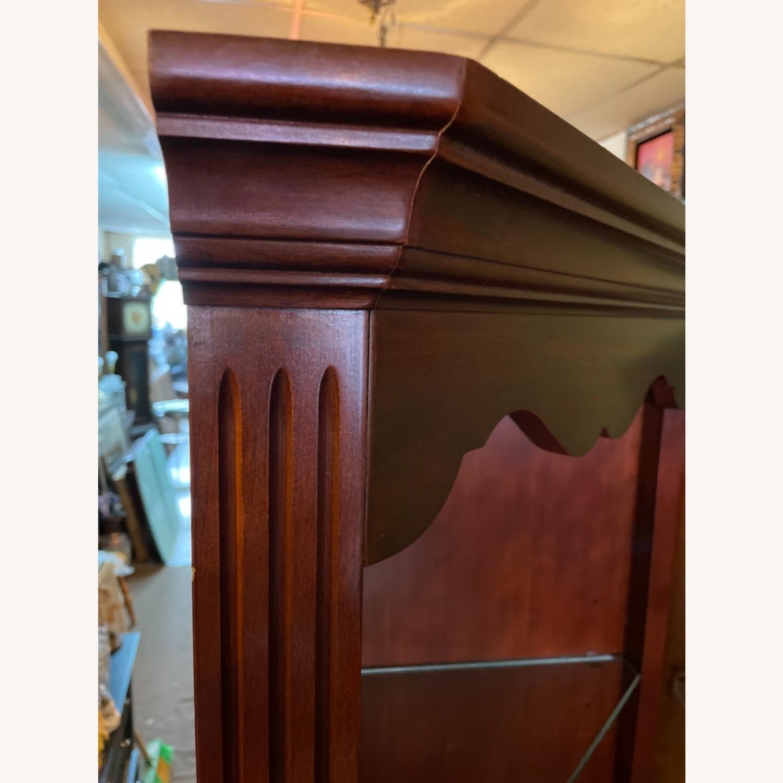 Vintage 1980s Thomasville Corner Cabinet w/ light - image-2