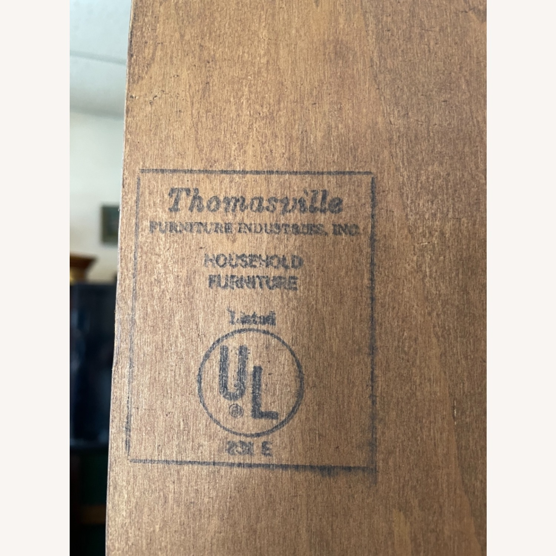 Vintage 1980s Thomasville Corner Cabinet w/ light - image-13