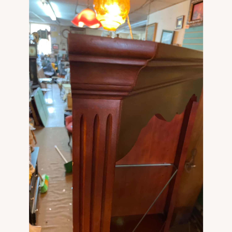 Vintage 1980s Thomasville Corner Cabinet w/ light - image-6