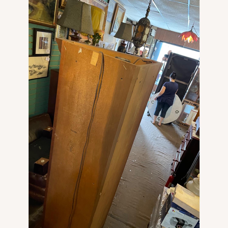 Vintage 1980s Thomasville Corner Cabinet w/ light - image-4
