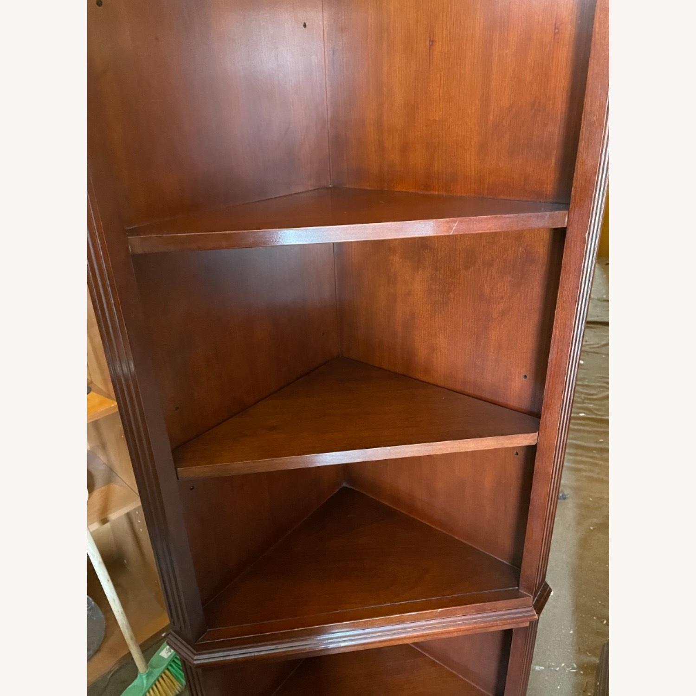 Vintage 1980s Thomasville Corner Cabinet w/ light - image-11