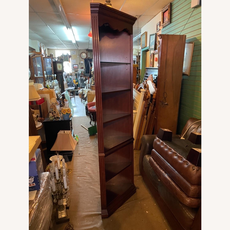 Vintage 1980s Thomasville Corner Cabinet w/ light - image-15