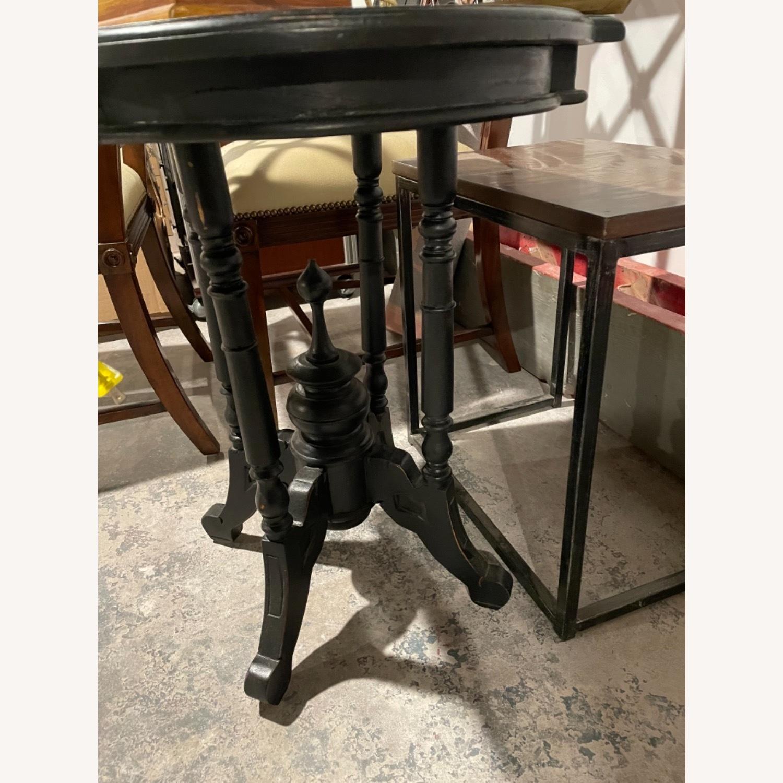 Black Wood Side Table, Distressed - image-3