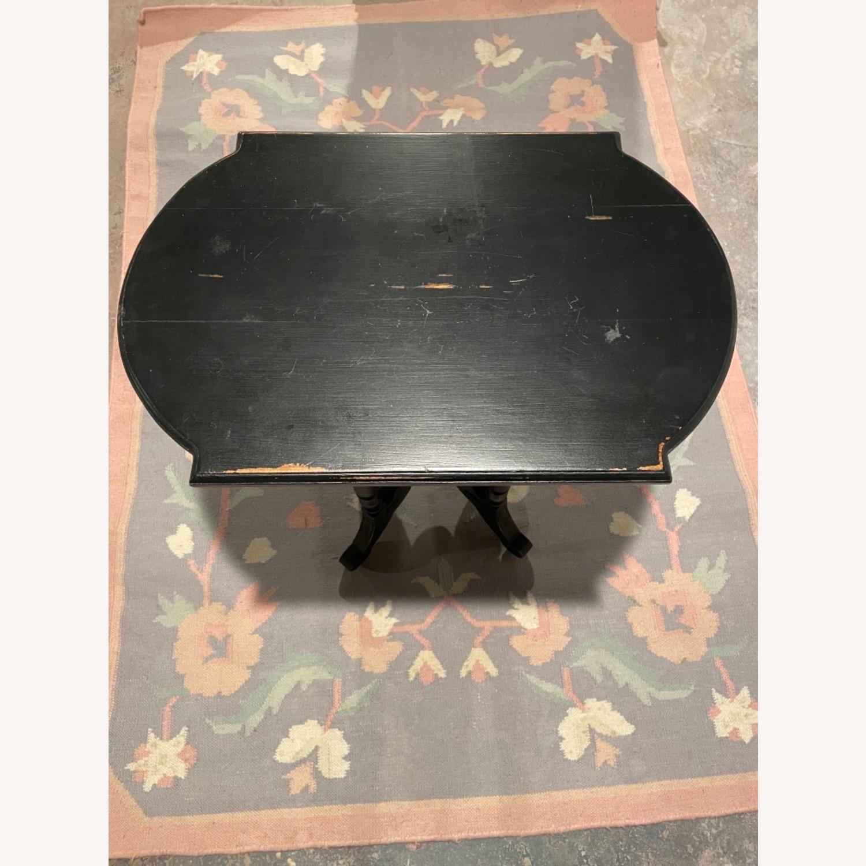 Black Wood Side Table, Distressed - image-2