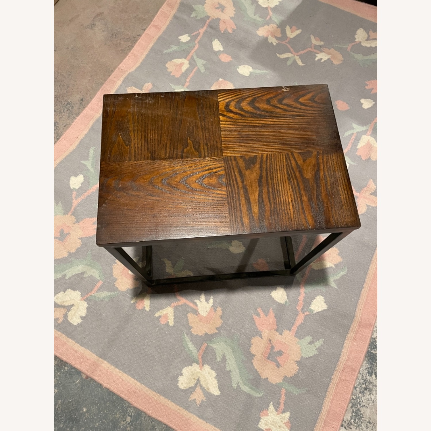 Wood Top Table with Metal Frame - image-2