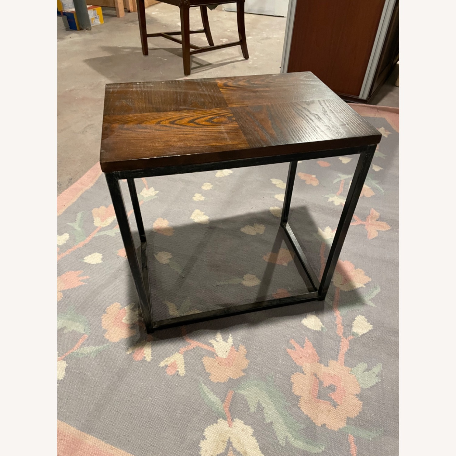 Wood Top Table with Metal Frame - image-1