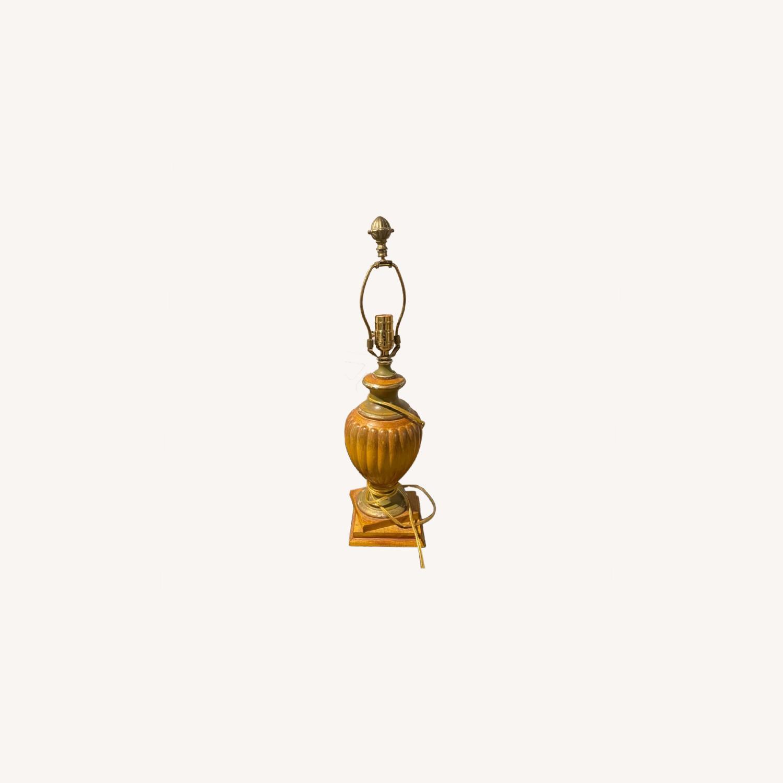 Vintage Gold Lamp (no shade) - image-0