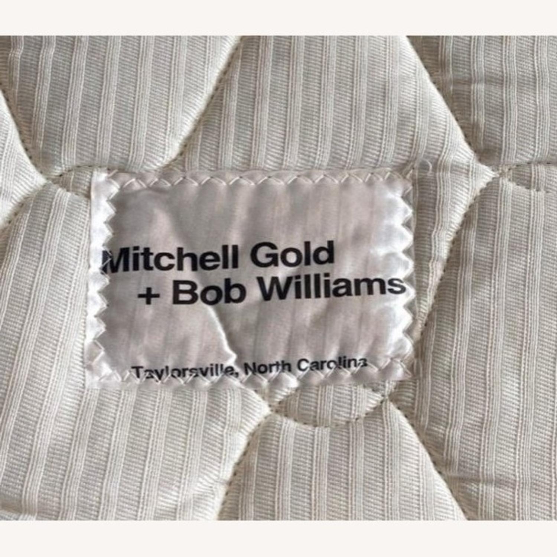 Mitchell Gold Grey Suede Sleeper Sofa - image-3