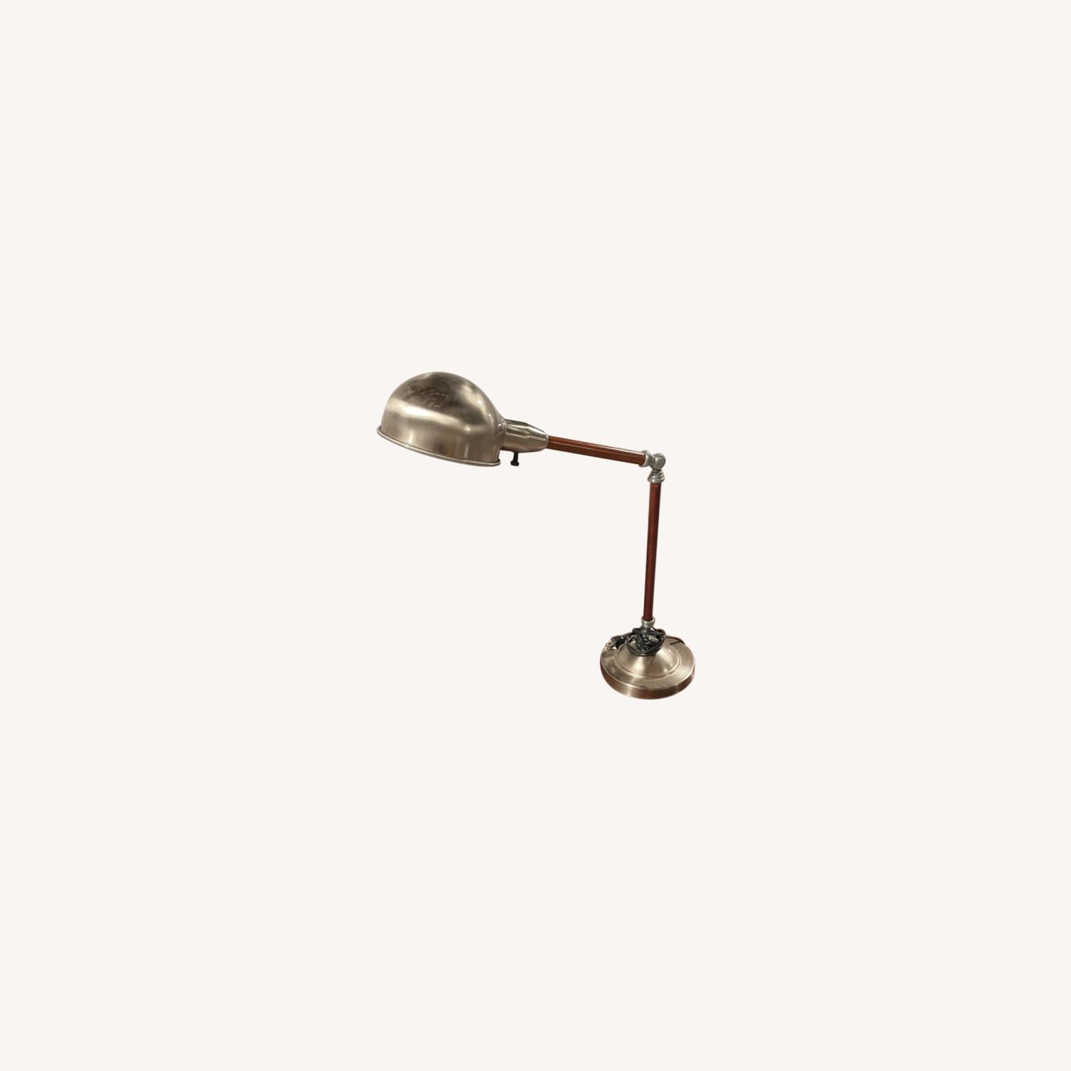 Wood and Metal Table Lamp - image-0