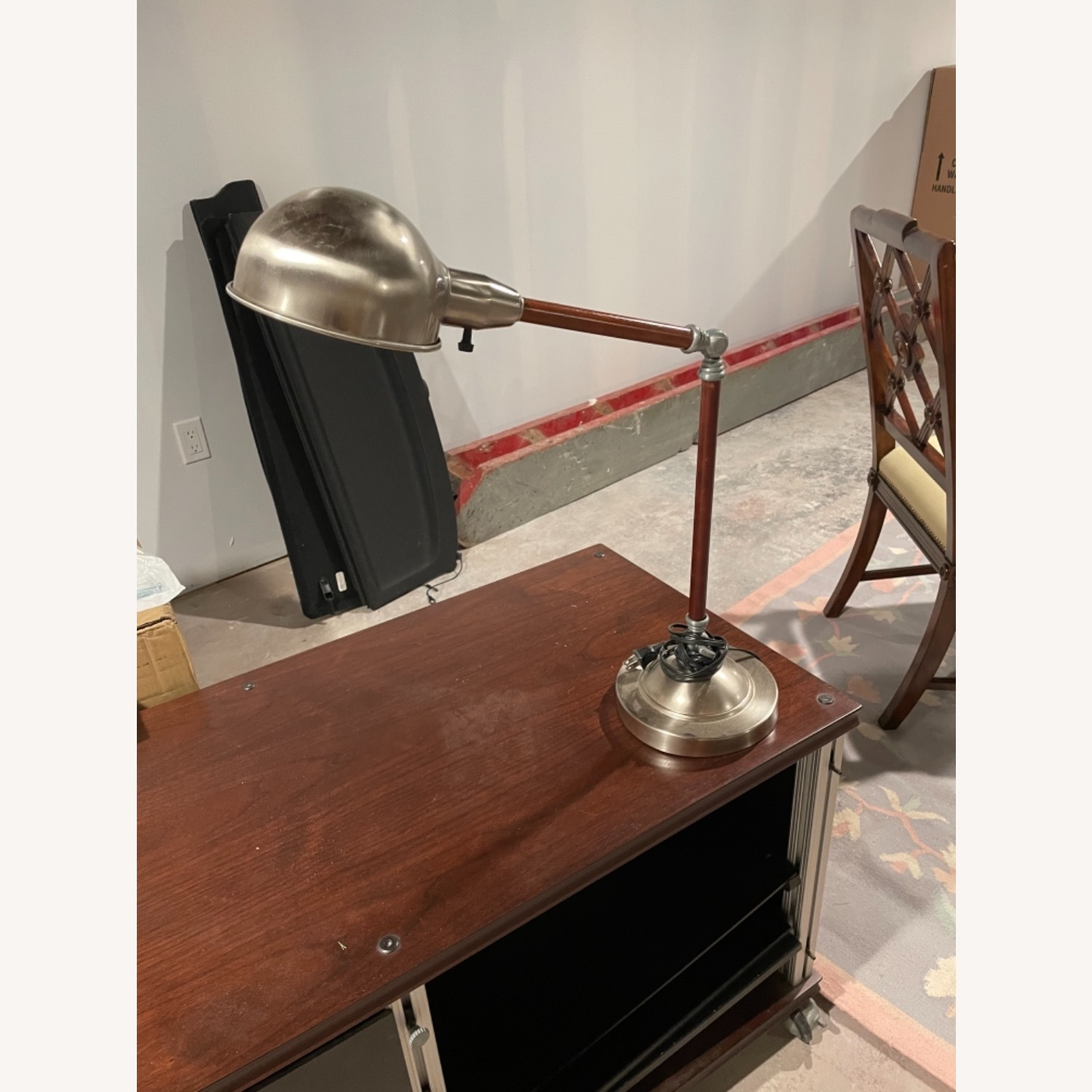 Wood and Metal Table Lamp - image-1