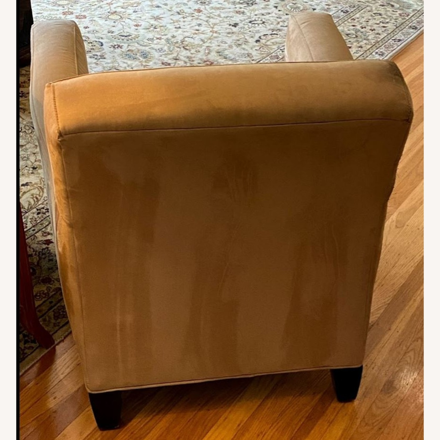 Mitchell Gold & Bob Williams Yellow Suede Armchair - image-3