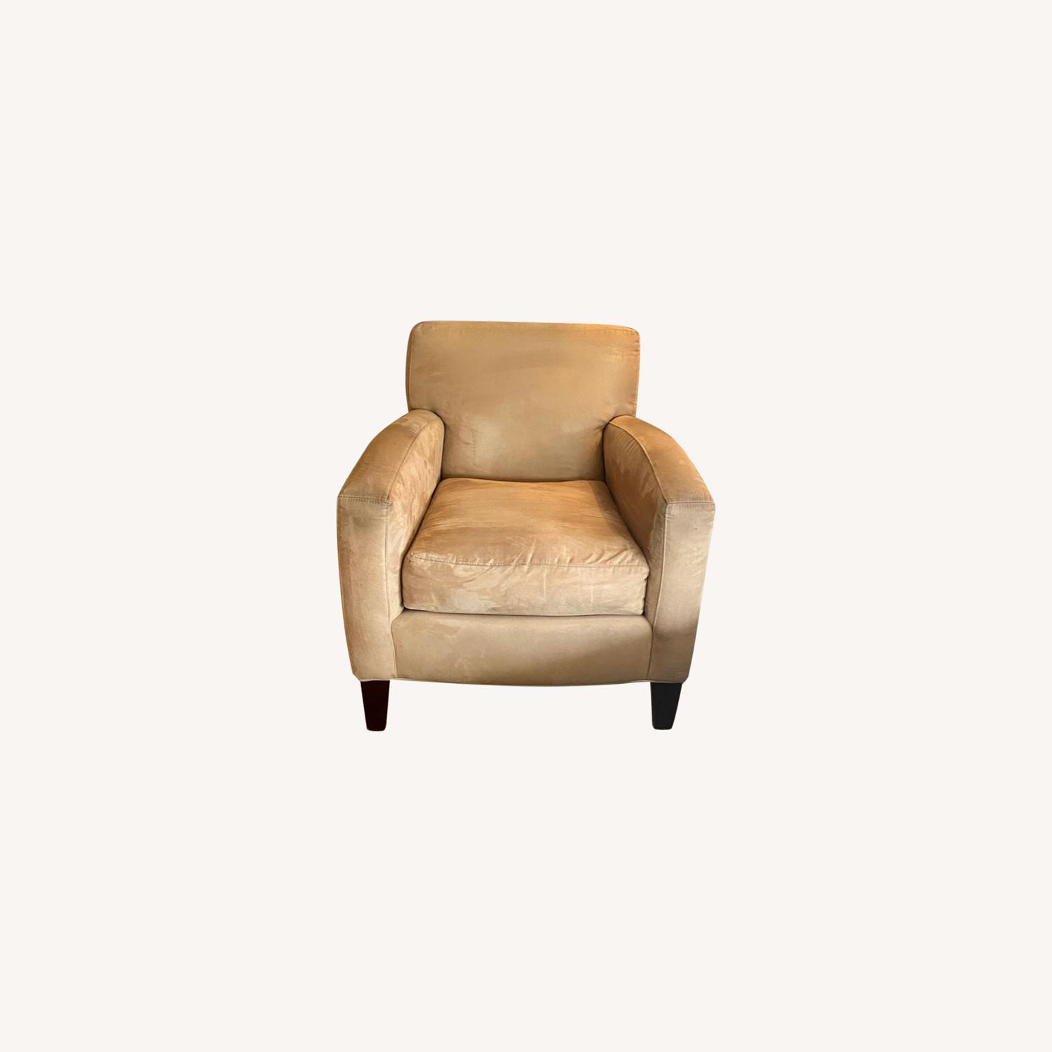 Mitchell Gold & Bob Williams Yellow Suede Armchair - image-0