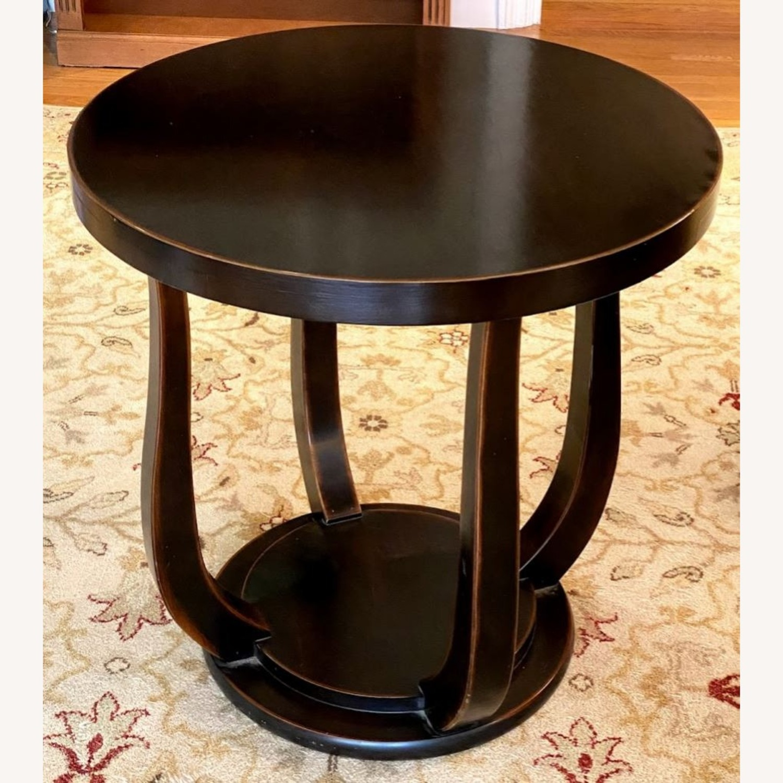 Dark Wood Tulip Side Table - image-2