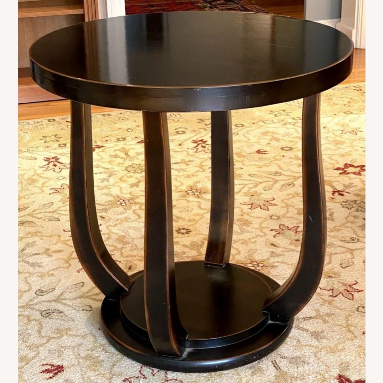 Dark Wood Tulip Side Table - image-1