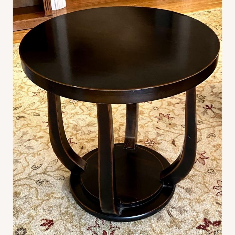 Dark Wood Tulip Side Table - image-3