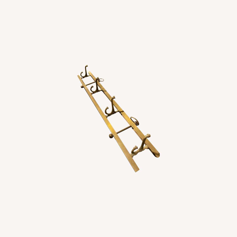 Gold Wall Hanging Coat Rack - image-0