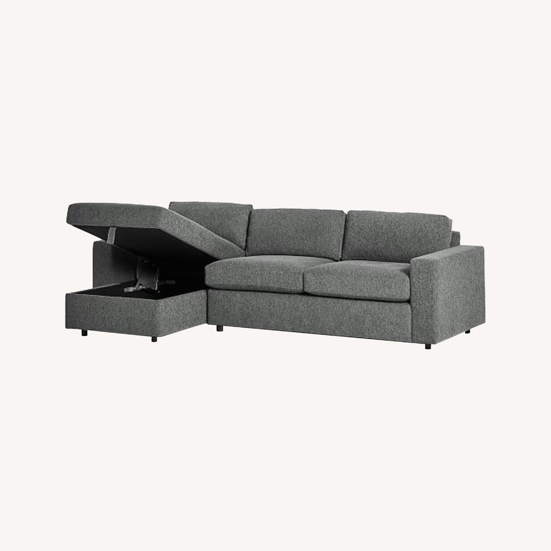 West Elm Sectional Sleeper Sofa w/ Storage - image-0