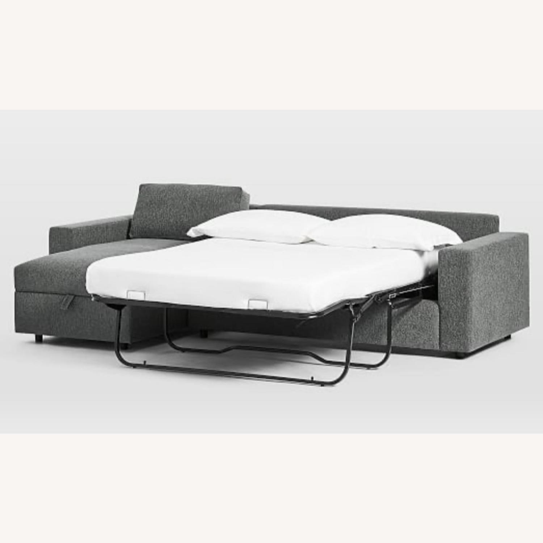 West Elm Sectional Sleeper Sofa w/ Storage - image-2