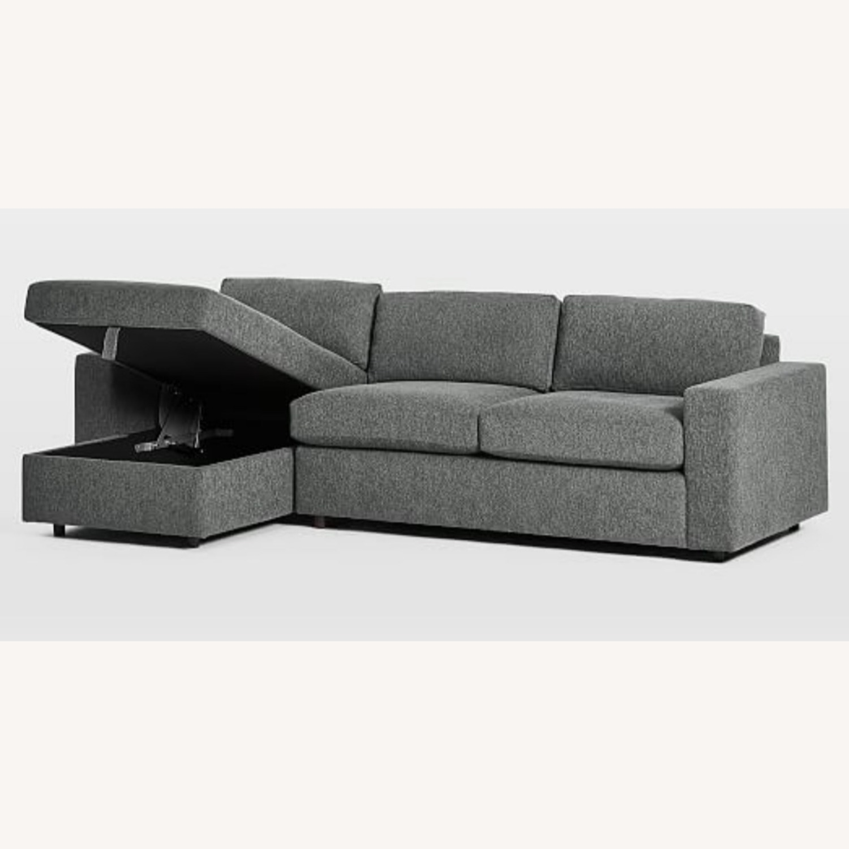 West Elm Sectional Sleeper Sofa w/ Storage - image-1