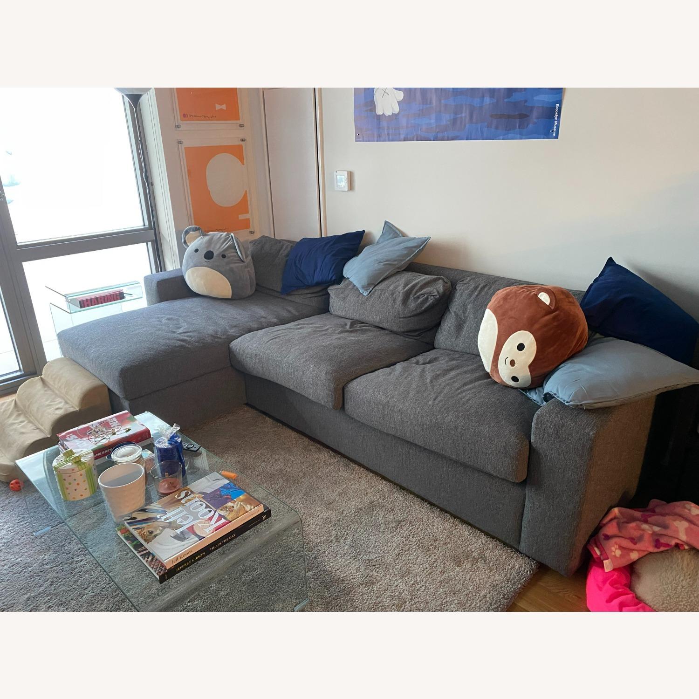 West Elm Sectional Sleeper Sofa w/ Storage - image-3