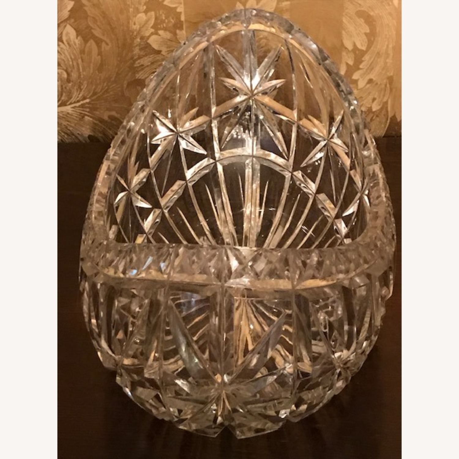 Enormous Antique 1800s Hand Cut Crystal Boat Bowl - image-5