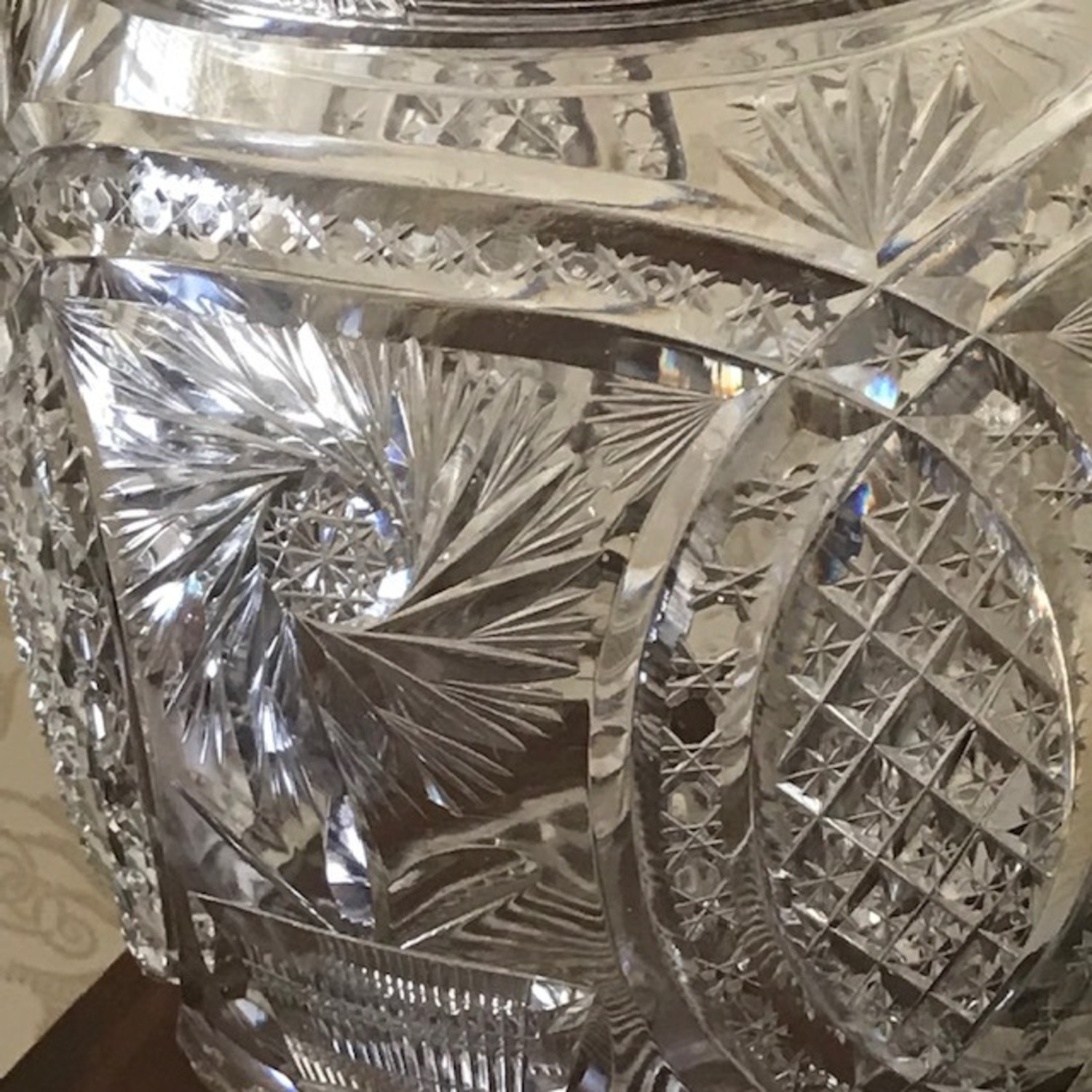 Extraordinary Antique 1800's Crystal Punch Bowl - image-3