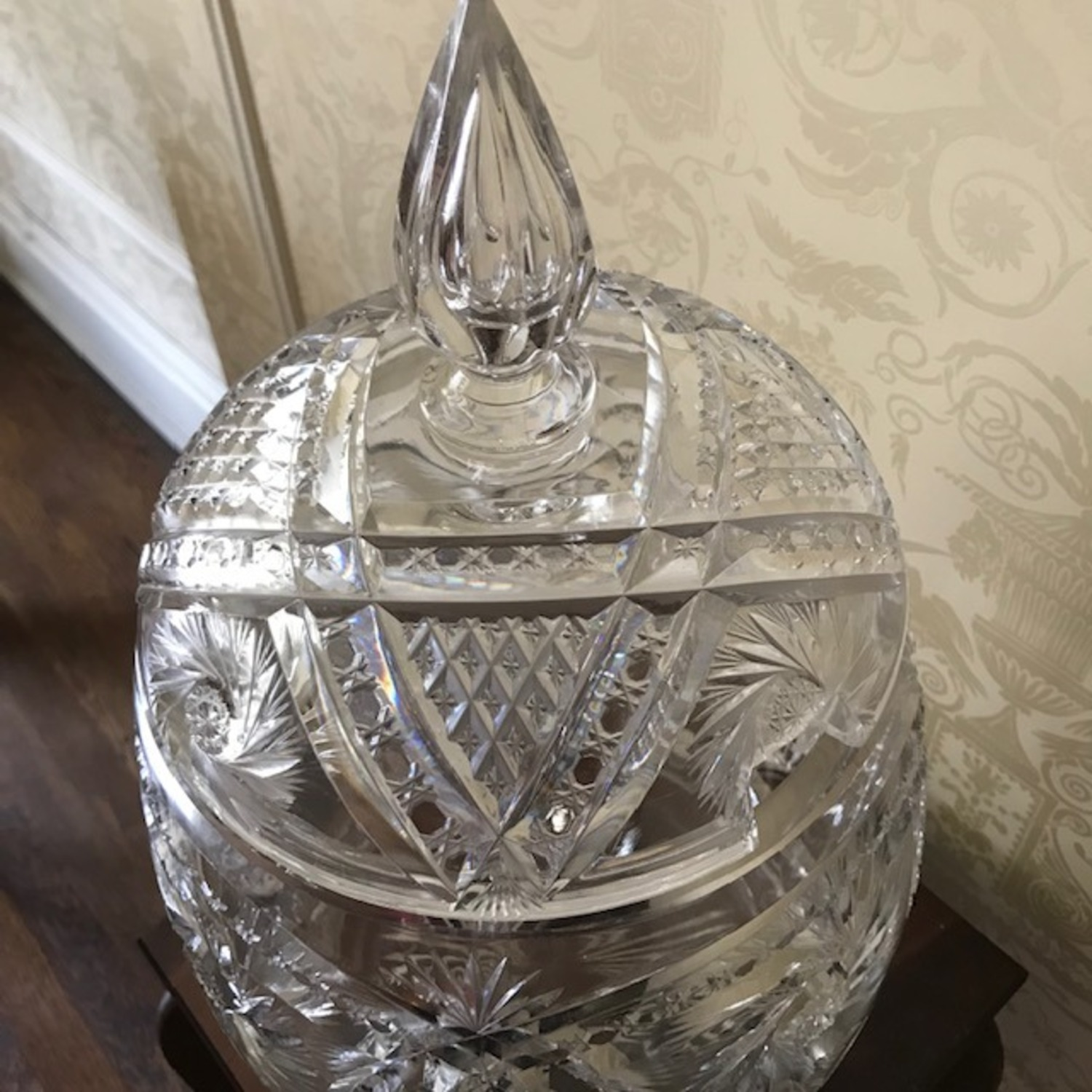 Extraordinary Antique 1800's Crystal Punch Bowl - image-7