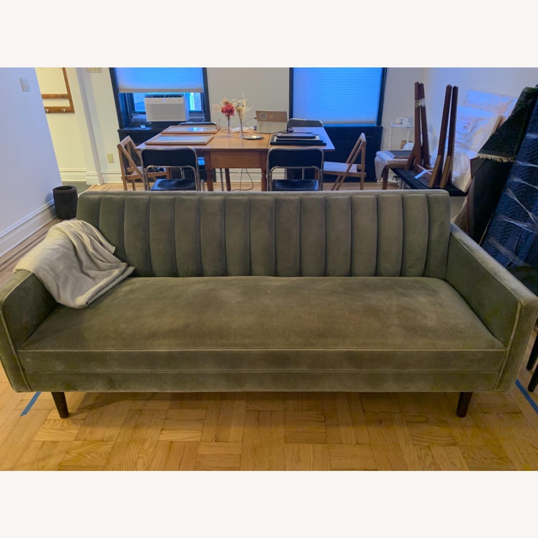 Room & Board Mid Century Velvet Sofa - image-4
