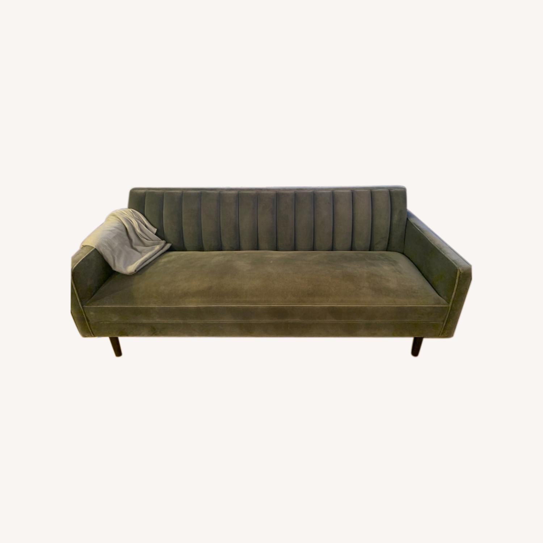 Room & Board Mid Century Velvet Sofa - image-0