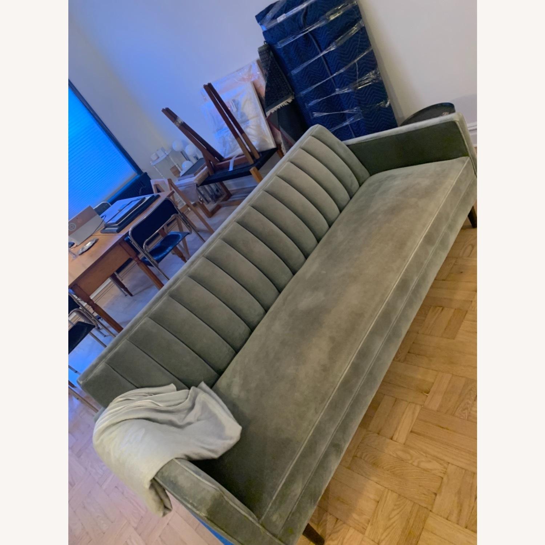 Room & Board Mid Century Velvet Sofa - image-2