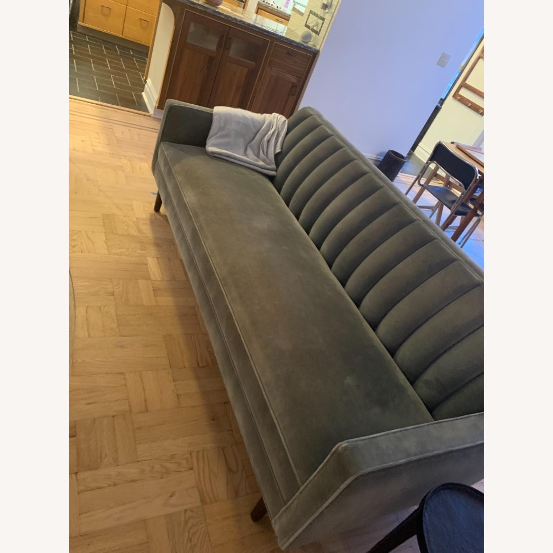 Room & Board Mid Century Velvet Sofa - image-1
