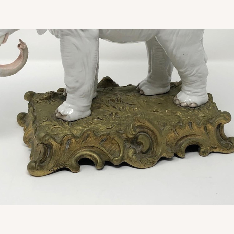 Antique 1800s French Sampson Porcelain Elephant - image-4