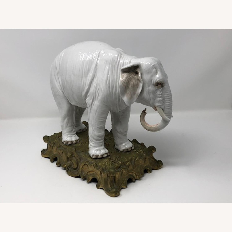 Antique 1800s French Sampson Porcelain Elephant - image-3