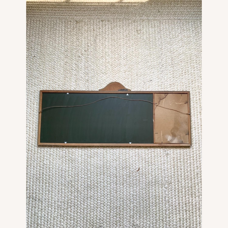 Antique Delicate Wood Framed Rose Print Mirror - image-2