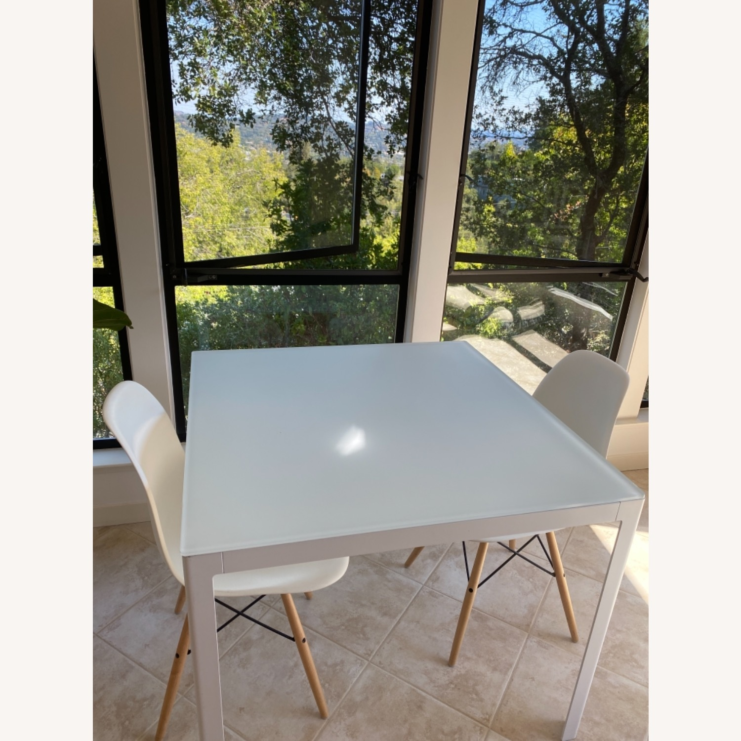 Design Within Reach White Table with 2 Eames Chairs - image-2