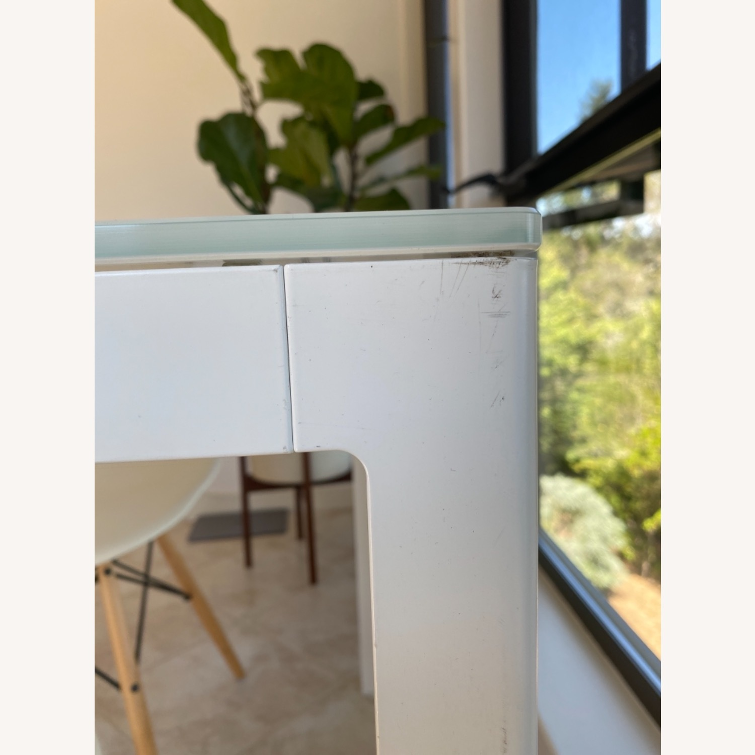 Design Within Reach White Table with 2 Eames Chairs - image-4
