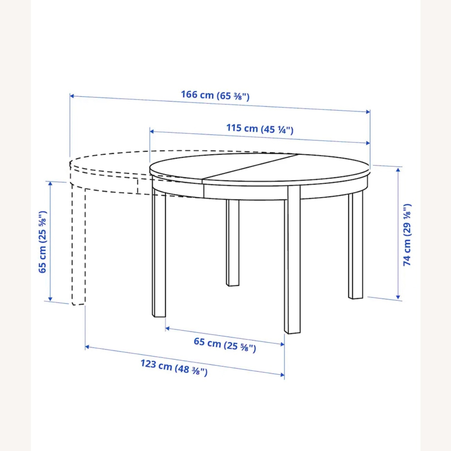 IKEA Dining Set - BJURSTA Table with INGOLF Chairs - image-7