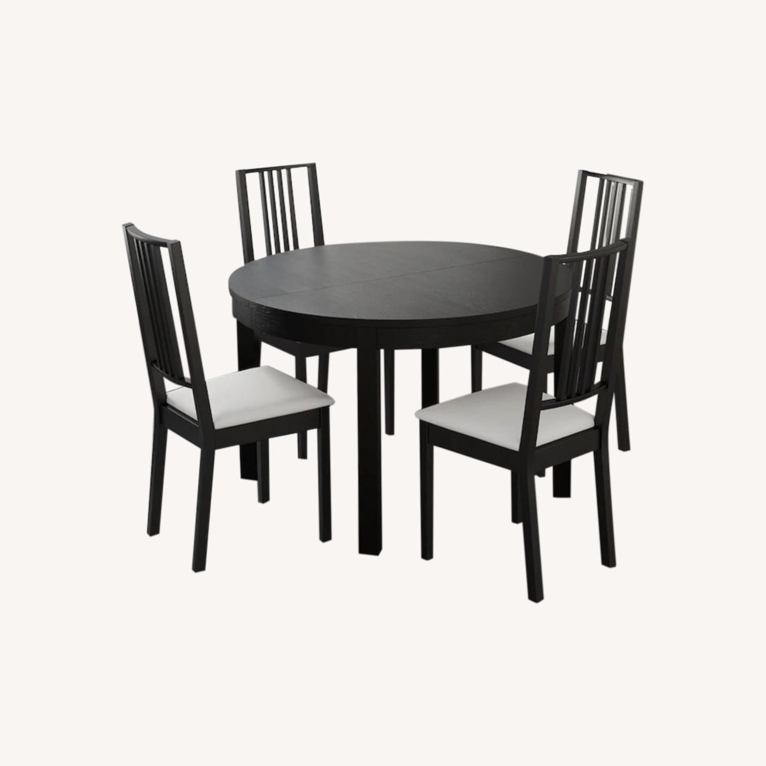 IKEA Dining Set - BJURSTA Table with INGOLF Chairs - image-0