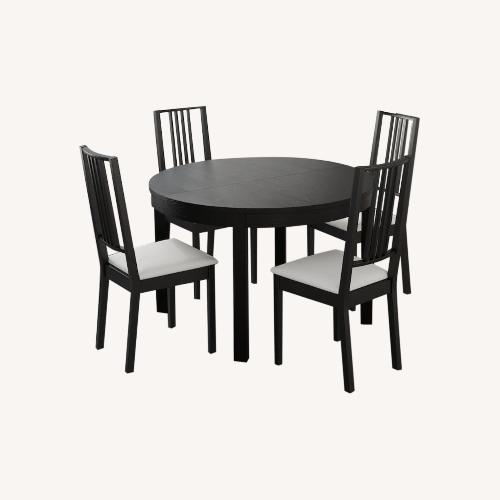 Used IKEA Dining Set - BJURSTA Table with INGOLF Chairs for sale on AptDeco