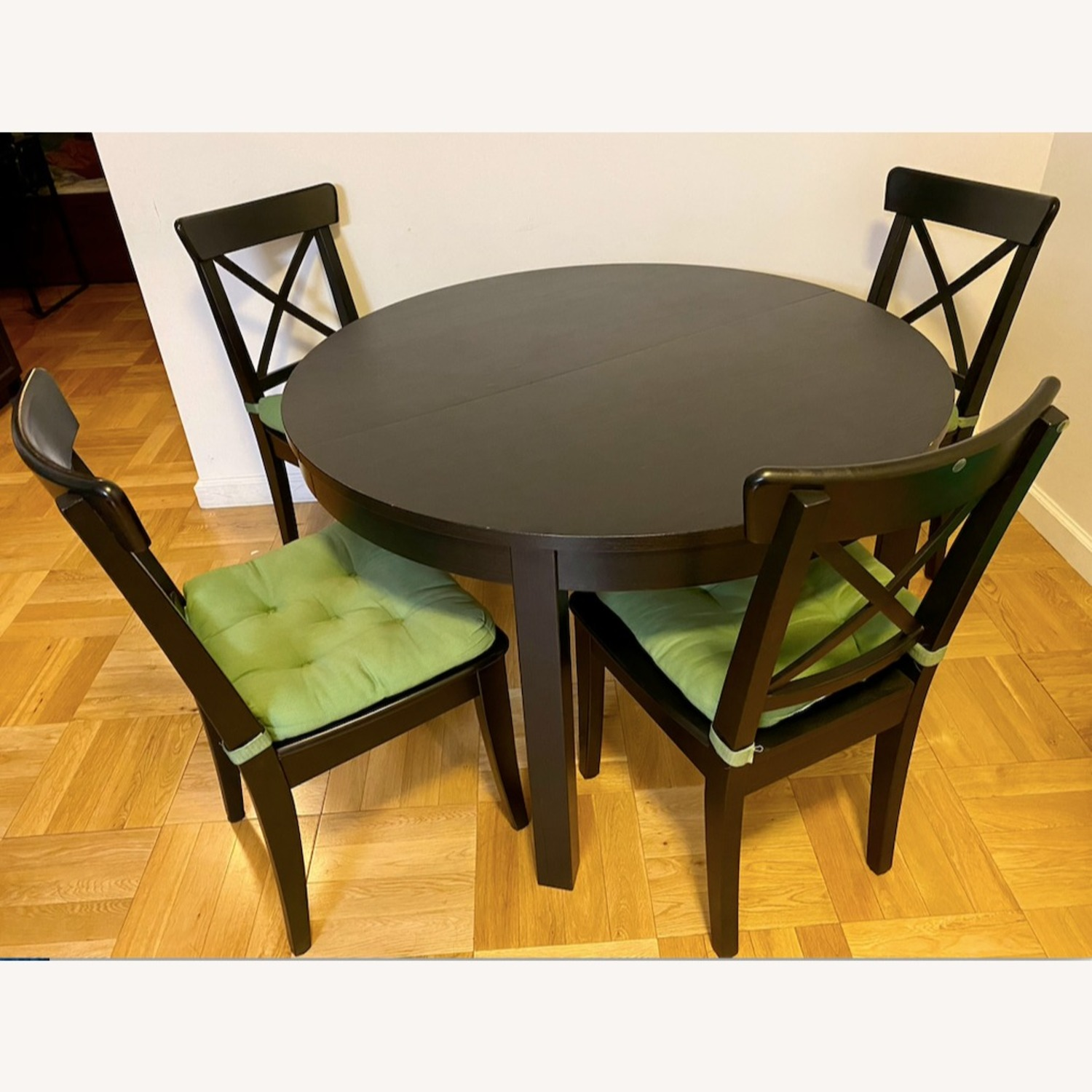 IKEA Dining Set - BJURSTA Table with INGOLF Chairs - image-1