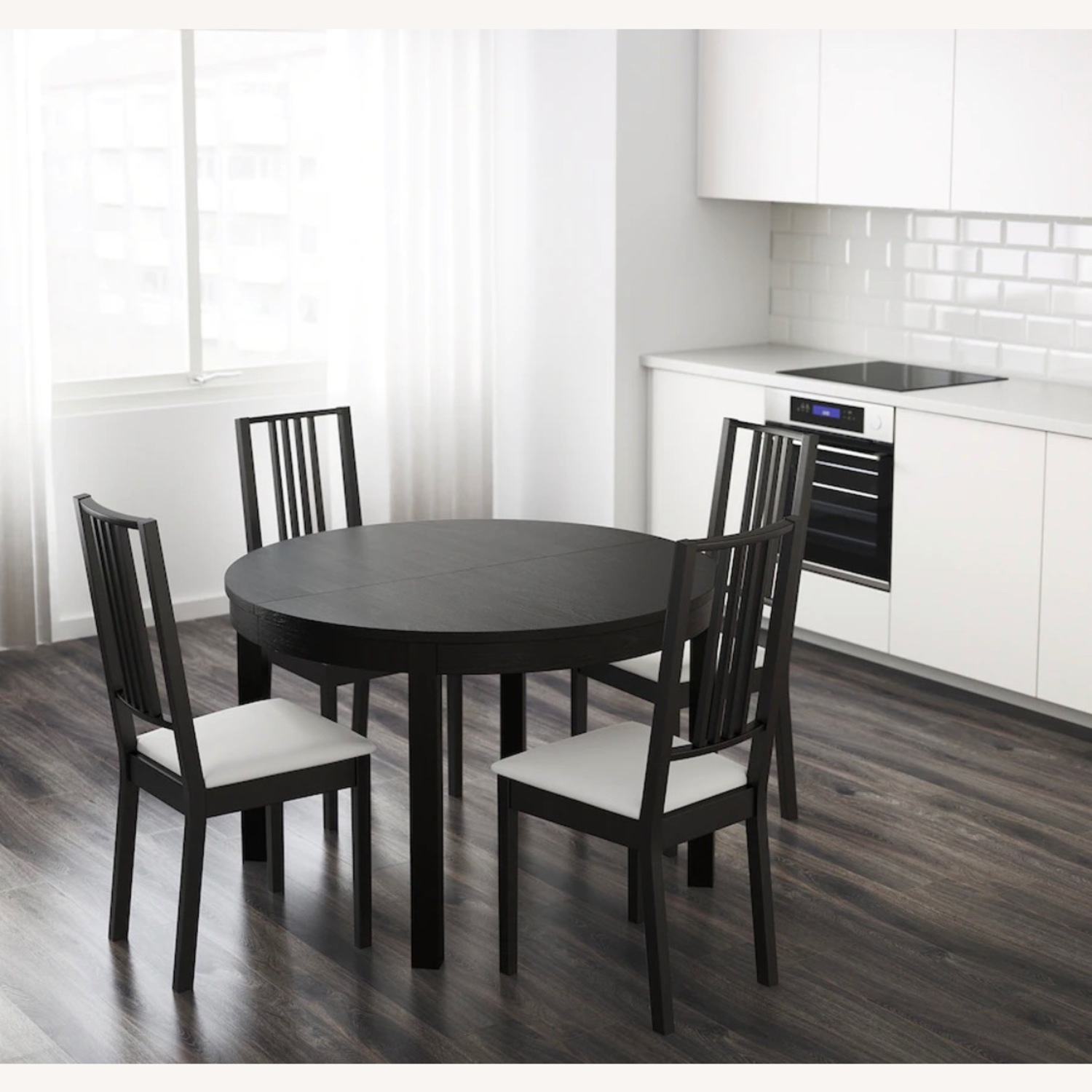 IKEA Dining Set - BJURSTA Table with INGOLF Chairs - image-8