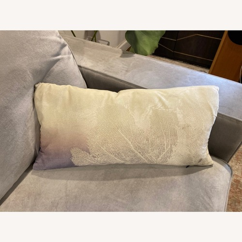 Used Seafan Pillow In Ombre Twilight On Ivoir for sale on AptDeco