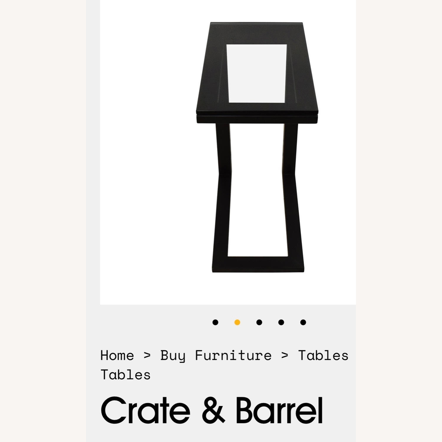 Crate and Barrel Parsons C Table - image-7