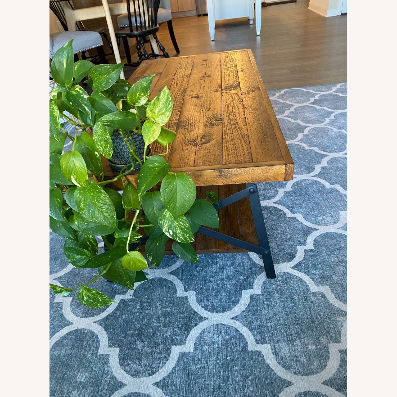 Wood and Metal Coffee Table - image-4